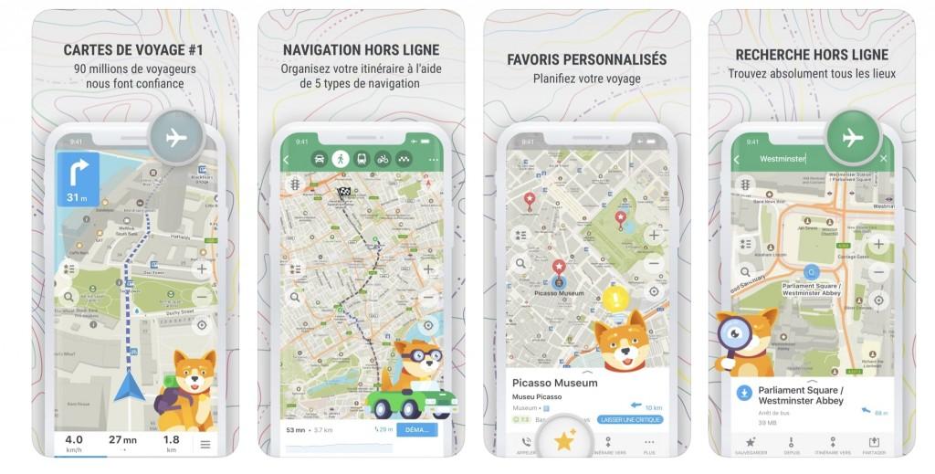 Application Maps.me