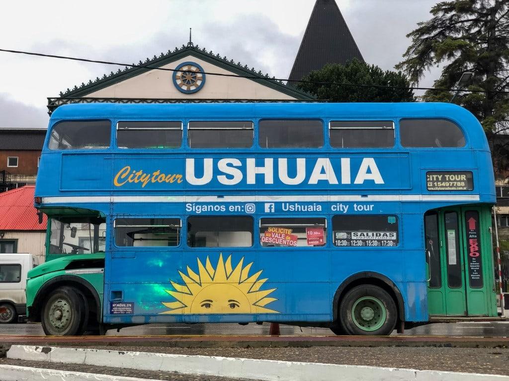 Bus touristique à Ushuaïa