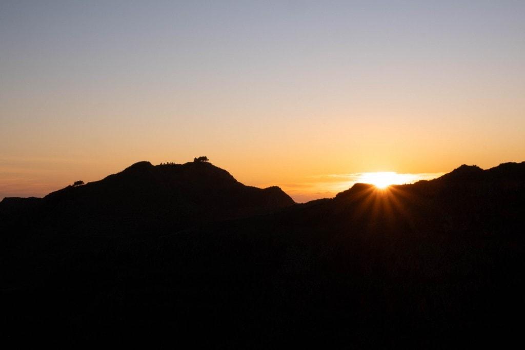 Coucher de soleil à la Gomera