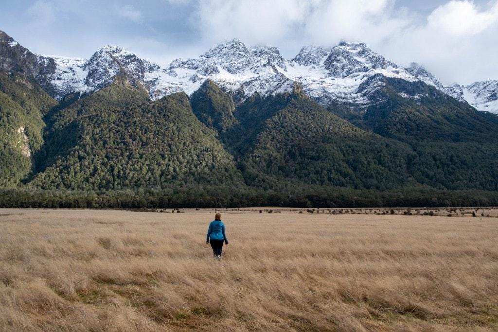 Paysages de Nouvelle-Zélande l'hiver