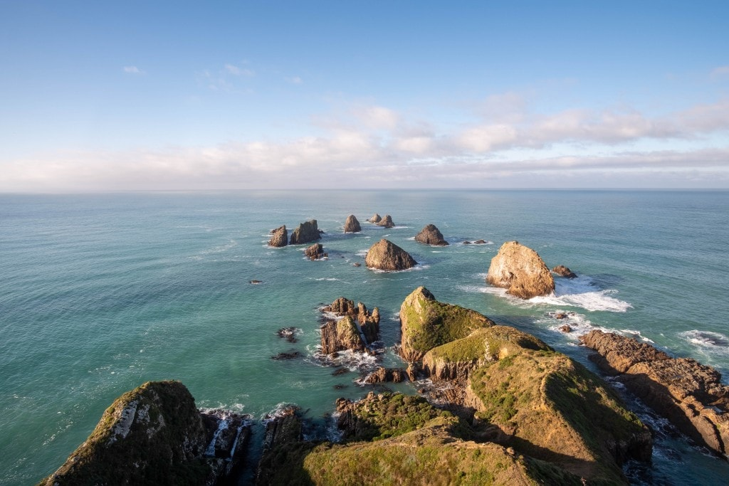 Le site Nugget Point sur l'île du Sud en Nouvelle-Zélande