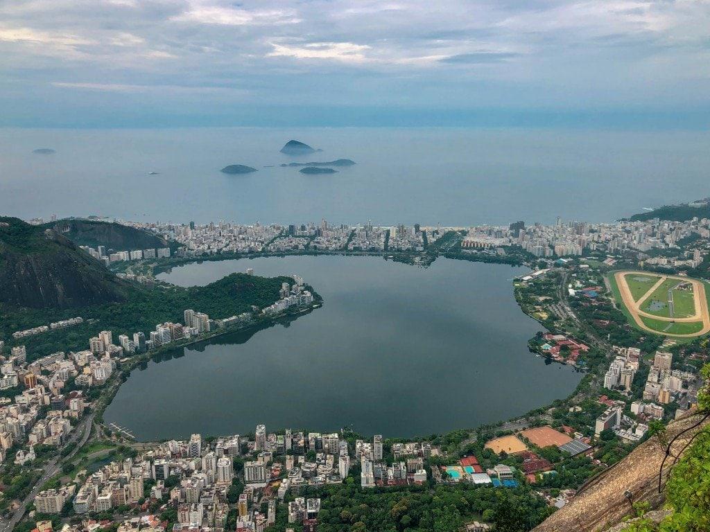 Vue depuis le Corcovado à Rio de Janeiro